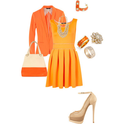 I Just Recently Learned About Color In My Aesthetics Class And Decided To Do A Monochromatic Orange Look Love These Two Shades Paired Together